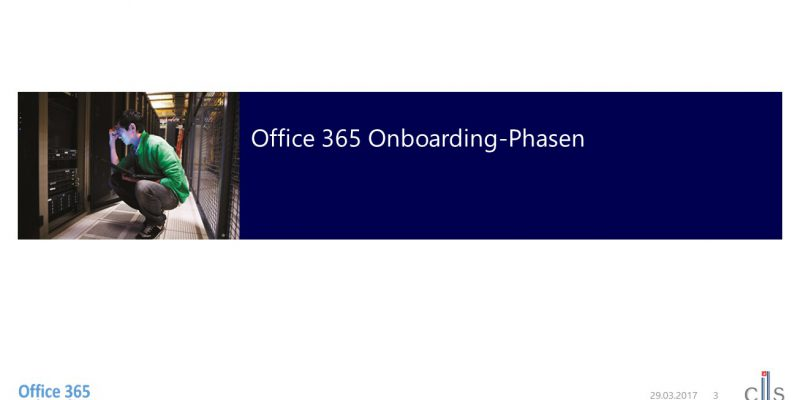 Office 365 Onboarding-Phasen